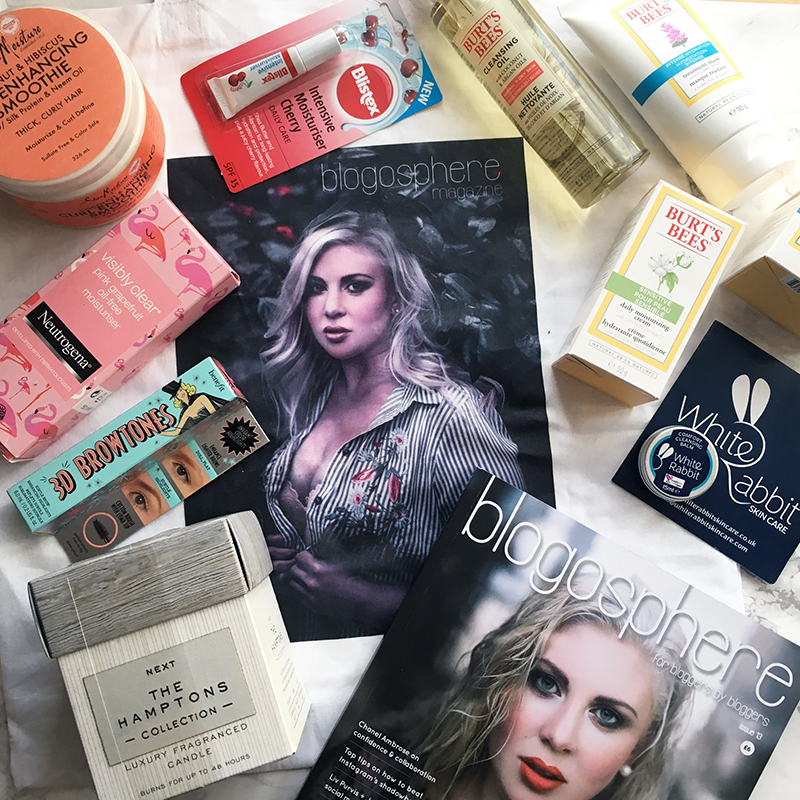 Goody bag at the #BlogosphereCoverReveal - Blogosphere Magazine Issue 13 with Louise Pentland