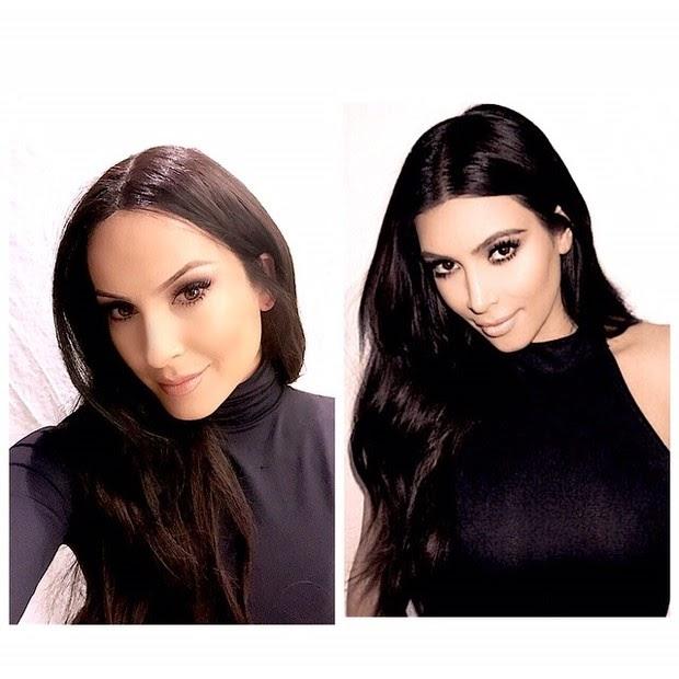 Claudia Leite parecida com Kim Kardashian