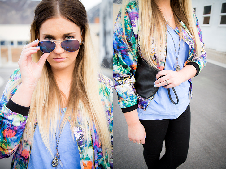 Floral Jacket-Close up accessories