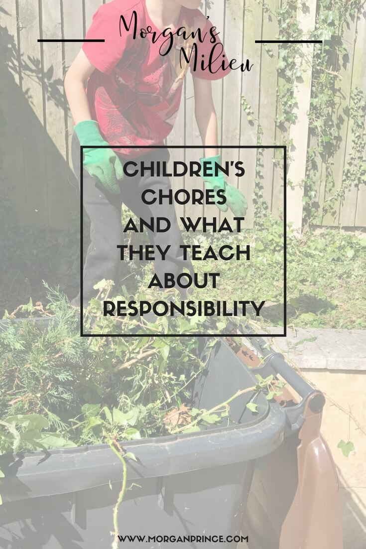 Children's chores and what they teach them about responsibility. Do your children do chores?