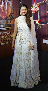 Keerthy Suresh in White Dress with Cute Smile at Wonder Women Awards 3