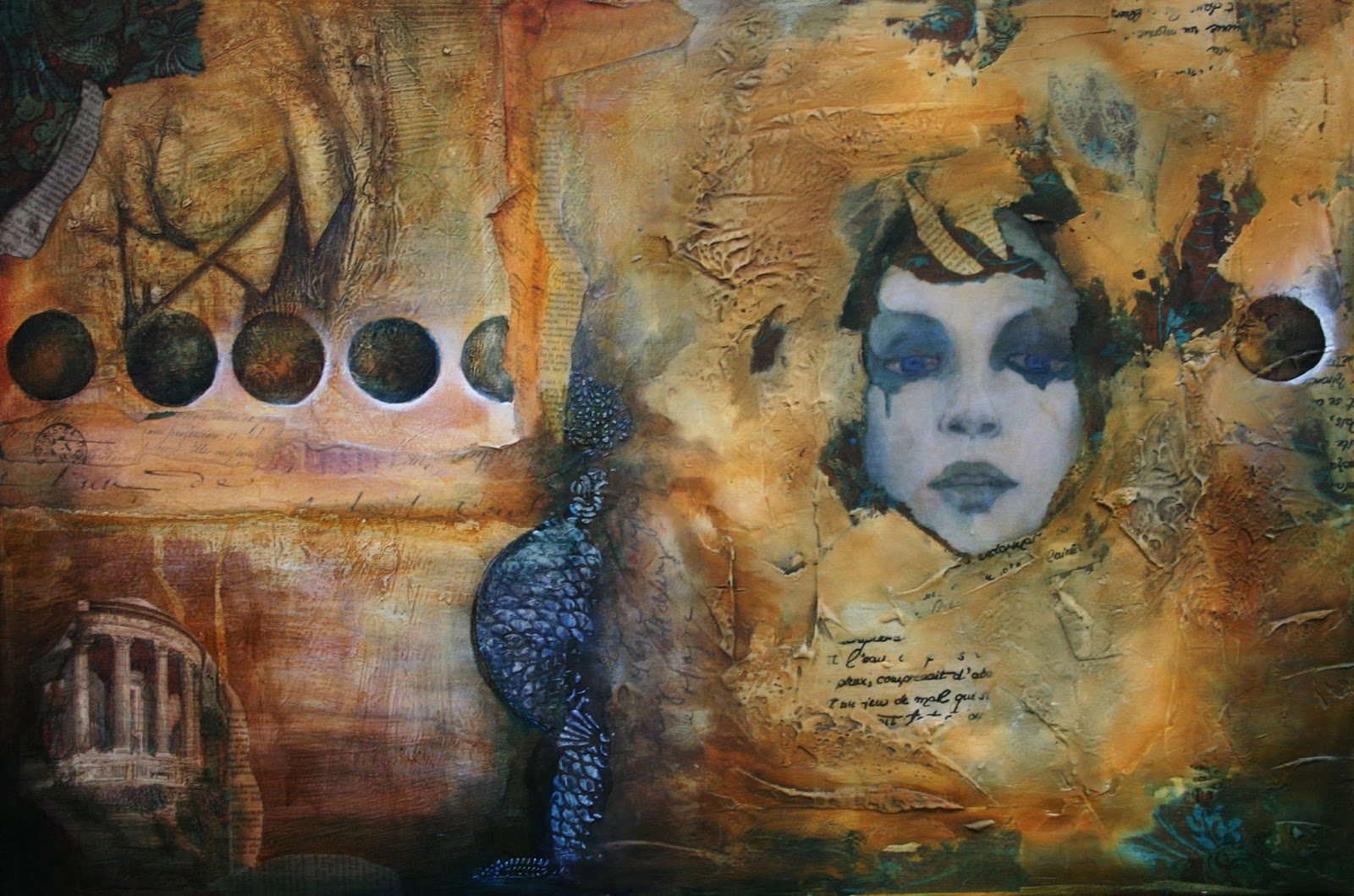 rustymermaid digital art and photography face book and the alchemist first my latest mixed media piece called the alchemist 24x36 canvas venetian plaster book pages acrylic paint and inks and charcoal secondly i finally
