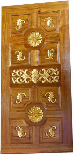 Single Wooden Kerala model Main Door Single Door - Wood ...