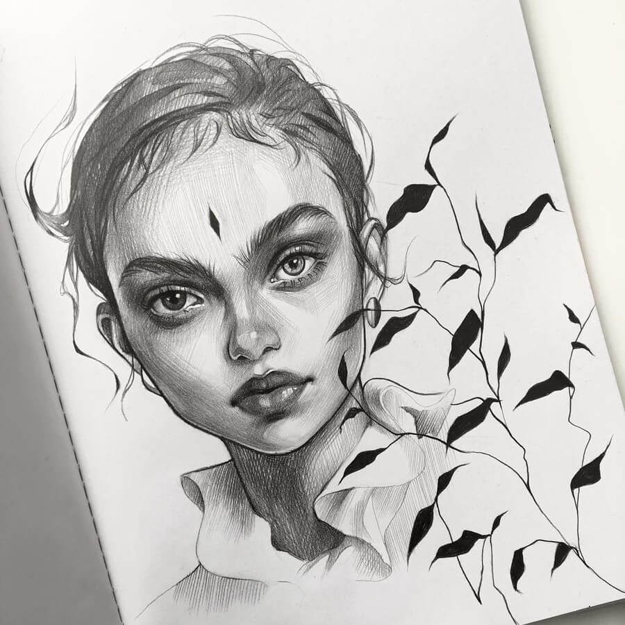 01-Alena-Kedavra-Pencil-and-Charcoal-Portrait-Drawings-www-designstack-co