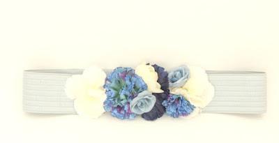 PV 2017 - Coleccion Azul Marino 14  cinturon elastico flores