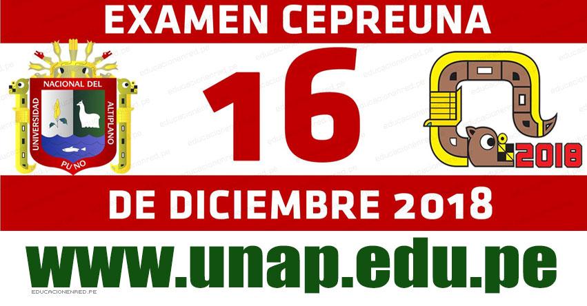 Resultados CEPREUNA 2018 (Examen 16 Diciembre) Lista Aprobados - Postulantes Aptos - CEPRE UNA - CCA UNAP - Universidad Nacional del Altiplano de Puno - www.unap.edu.pe