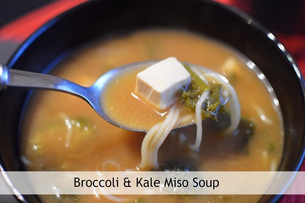 , Food:  Broccoli and Kale Vegan  Miso Soup Recipe