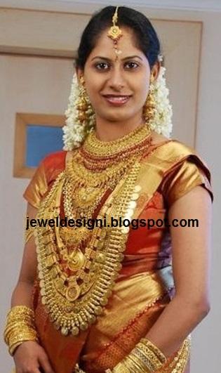 Jewellery Designs Beautiful Kerala Bride In Designer