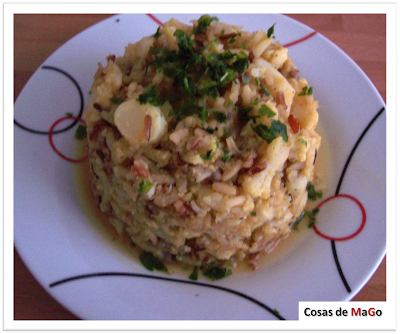 Arroz con coliflor y curry