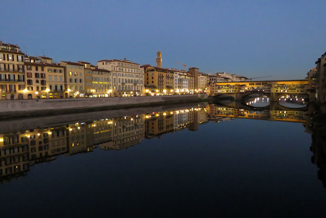 Lungarno degli Acciaiuoli and the Ponte Vecchio, Old Bridge, Florence