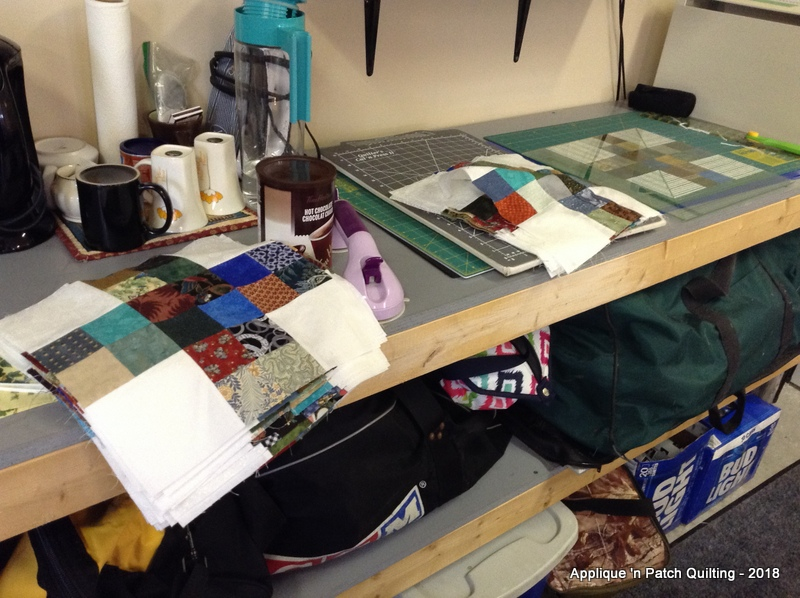 Applique n patch quilting: last day in the garage
