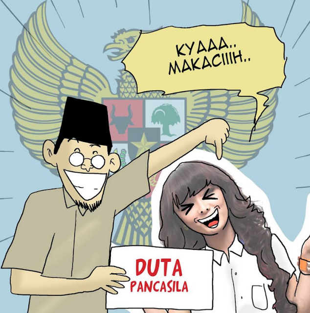 Komik Lucu Tentang Diangkatnya Zaksia Gotik Sebagai Duta Pancasila, Duh Bikin Mak Jleb !!!