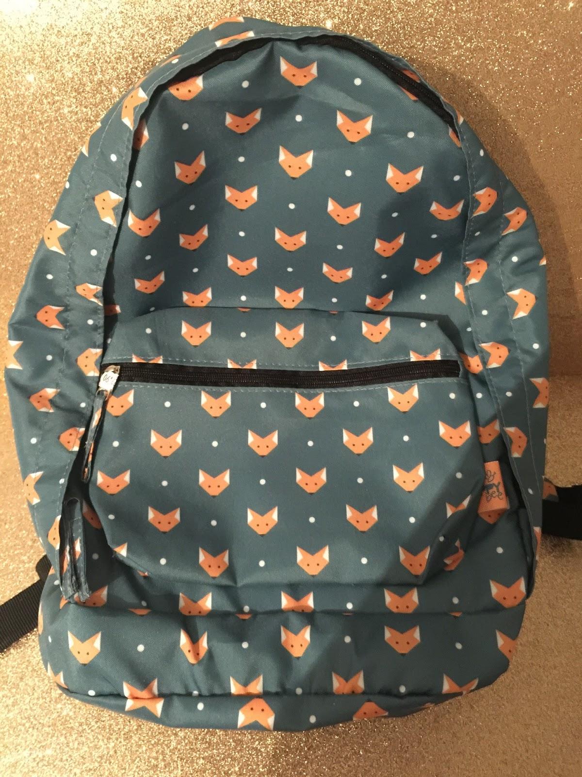 mochila raposa material escolar volta às aulas loja tudo e cia curitiba