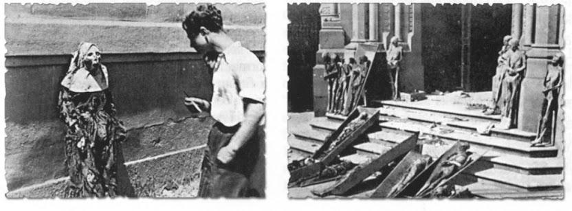 """Profanações comunistas na Guerra Civil espanhola. Na realidade, a """"democracia sectária"""" e o comunismo fazem parte de um mesmo processo e trabalham de mãos dadas contra a Igreja e a Civilização Cristã."""