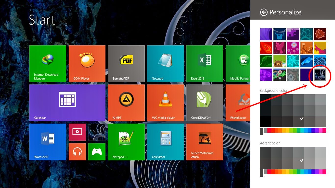 Mengganti Background Start Screen Pada Windows 8.1