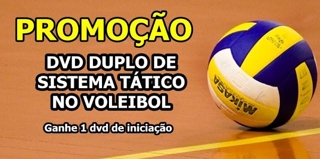 2 dvds de sistema tático de Voleibol com Bônus