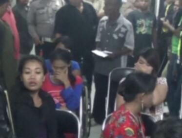 Warga yang terjaring razia di sejumlah hotel di Tanjungbalai