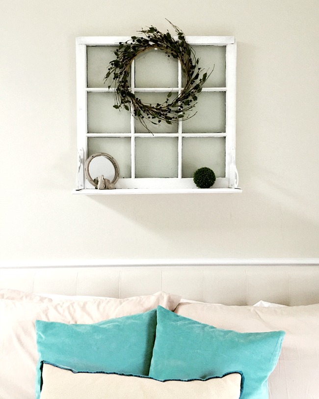 Creating beautiful window shelf using found materials.