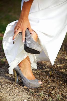 Zapatos de novia plateados