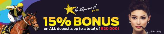 Hollywoodbets 15% Deposit Bonus - Sun Met 2017 - Horse - Model