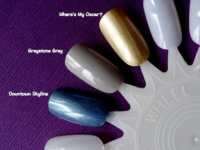 Lauren B Beauty Nail Couture | Greystone Grey, Where's My Oscar?, Downtown Skyline