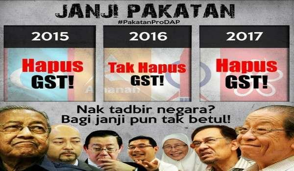 GST Jadi Bahan Kempen DAP #KekalNajib #TolakPakatan #PakatanProDAP #DAP #PRU14 #GE14