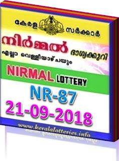 kerala lottery result from keralalotteries.info 21/9/2018, kerala lottery result 21.09.2018, kerala lottery results 21-09-2018, nirmal lottery NR 87 results 21-09-2018, nirmal lottery NR 87, live nirmal   lottery NR-87, nirmal lottery, kerala lottery today result nirmal, nirmal lottery (NR-87) 21/09/2018, NR 87, NR 87, nirmal lottery NR87, nirmal lottery 21.09.2018,   kerala lottery 21.09.2018, kerala lottery-results, keralagovernment, nirmal lottery result, kerala lottery result nirmal today, kerala lottery nirmal today result, nirmal kerala lottery result, today nirmal lottery result,