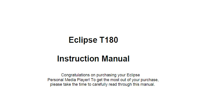 Eclipse T180 Manual