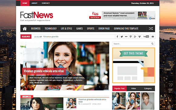 Fast News Blogger Template