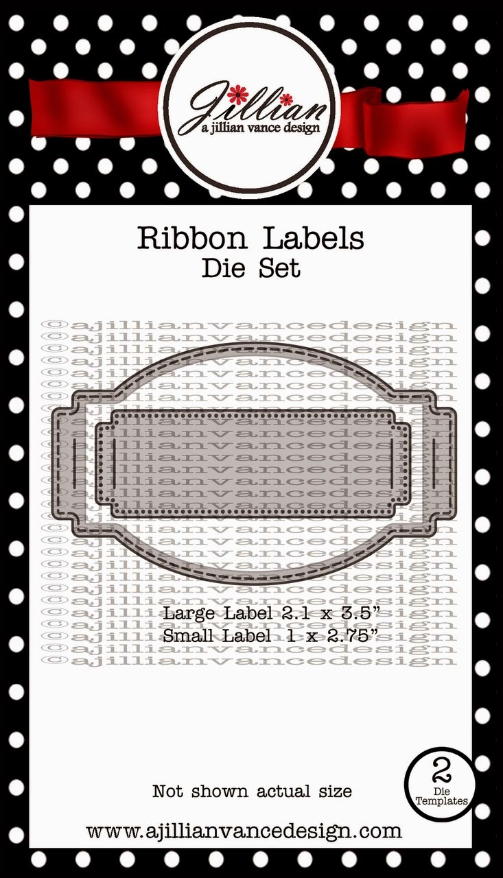 ribbon labels die set