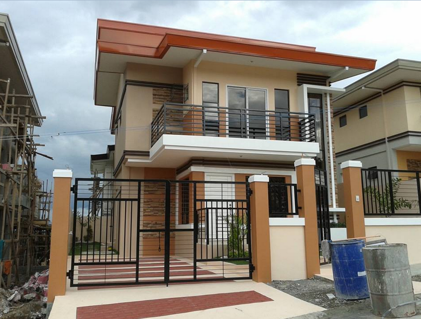 40 most beautiful and modern 2 storeys house designs for Small house gate design philippines