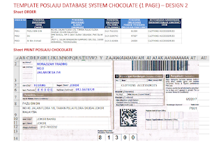 Template Poslaju Database System Chocolate (1 Page) - Design 2