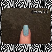 Unghia con glitter 3D