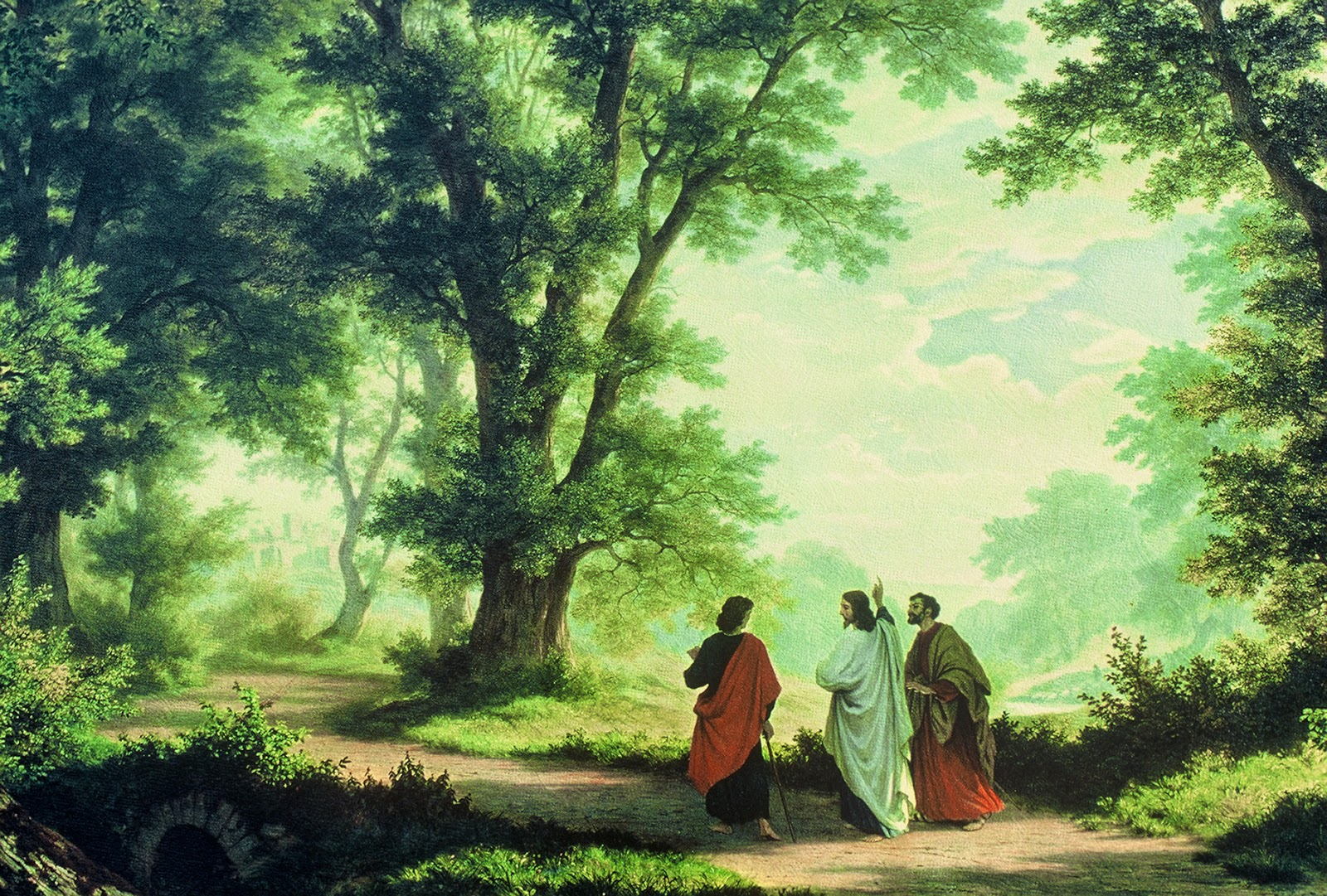 Way to Emmaus by Robert Zünd (1827-1909)