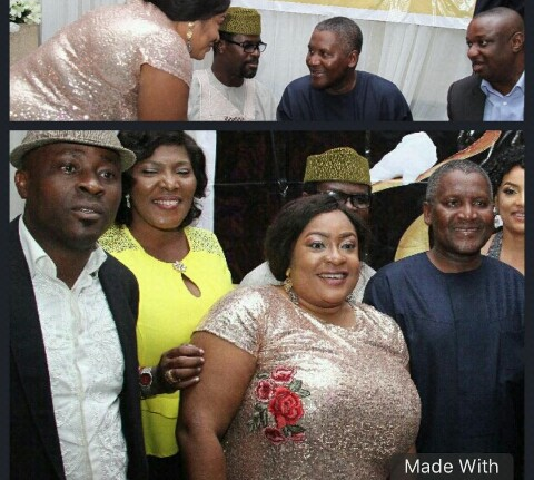 Actress Foluke Daramola And Aliko Dangote  Spotted At Festus Keyamo's Party