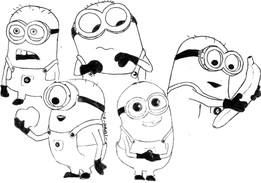 Fun coloring pages minions rocking ~ FUN & LEARN : Free worksheets for kid: Minions Free ...