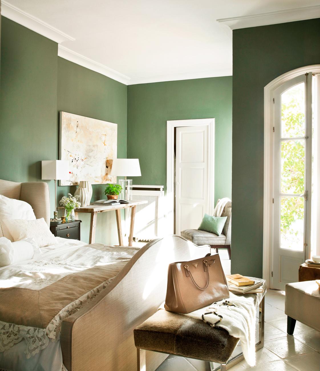 Casa tr s chic revista de fim de semana - Colores verdes para paredes ...