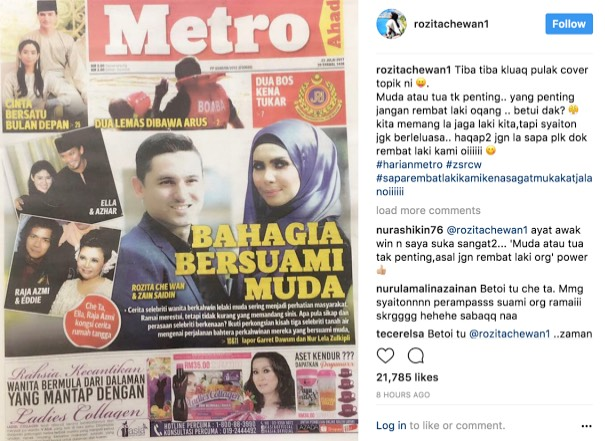 Che Ta Muatnaik Status 'Sindir' Perampas Suami Orang, Afifah Nasir