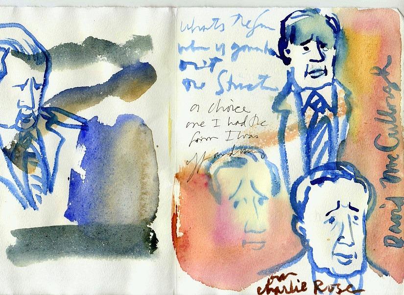 David McCullough sketch by Carol Gillott