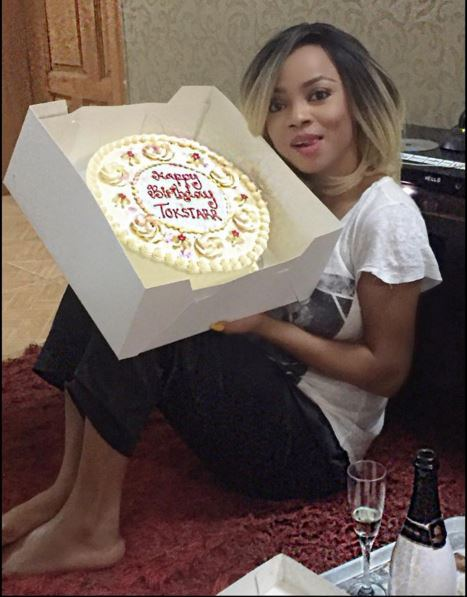 Toke Makinwa's Many Birthday Cakes