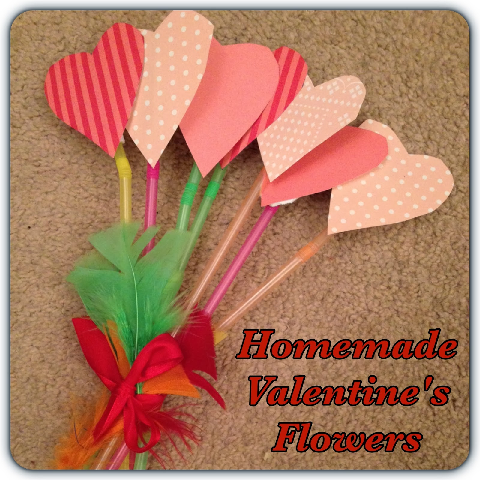 homemade valentines flowers