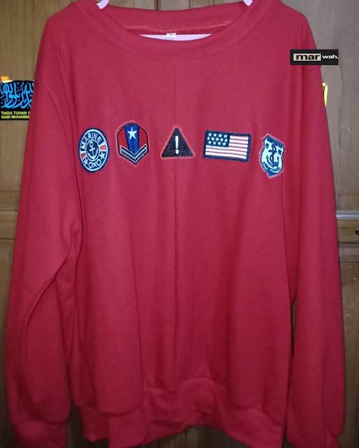 Sweatshirt Red & patch