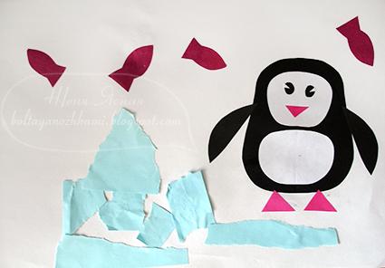 нарисовать пингвина ребенку, пингвин рисунок для детей
