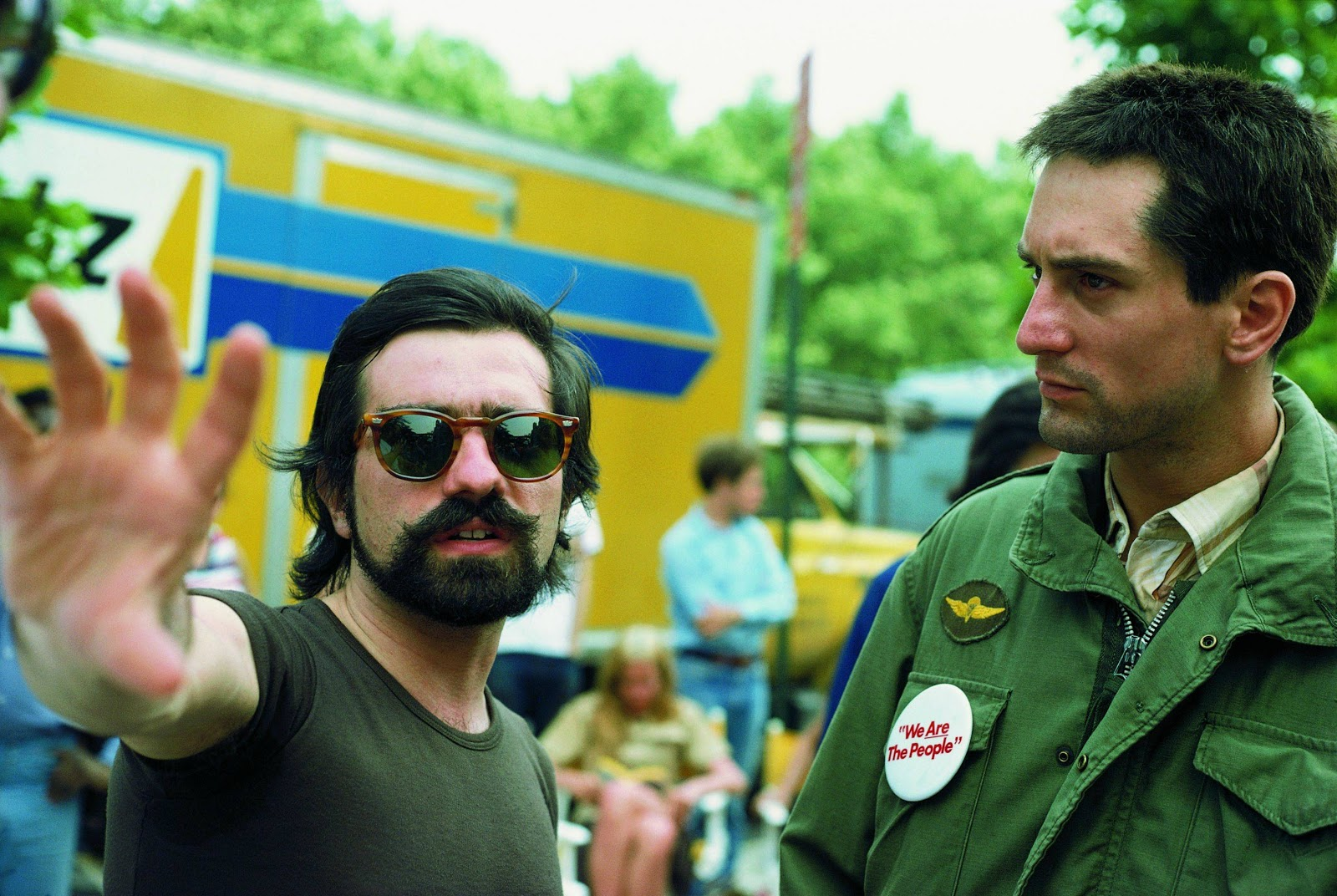 7b0bf09c52c48 Martin Scorsese and Robert De Niro on the set of the Movie  Taxi Driver