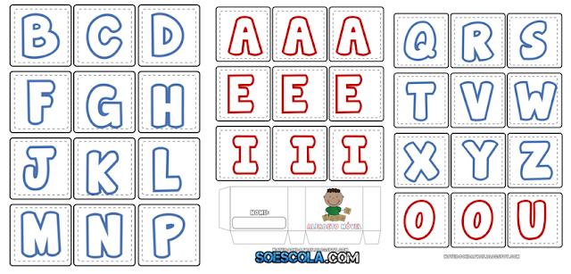 Fichas de Alfabeto Móvel para imprimir