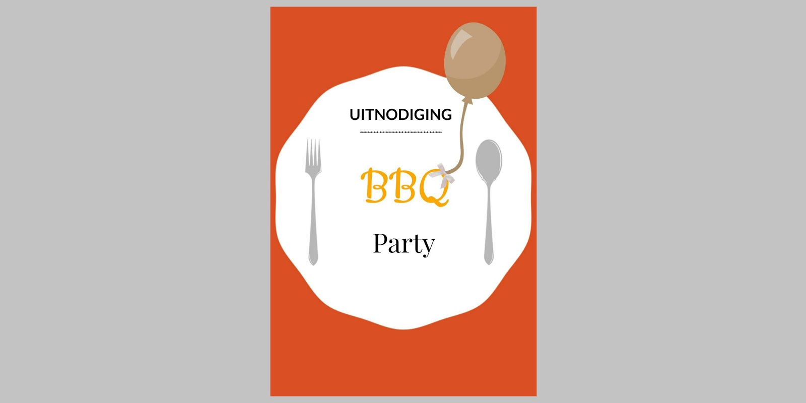 Print: A4 uitnodiging ( BBQ Party )