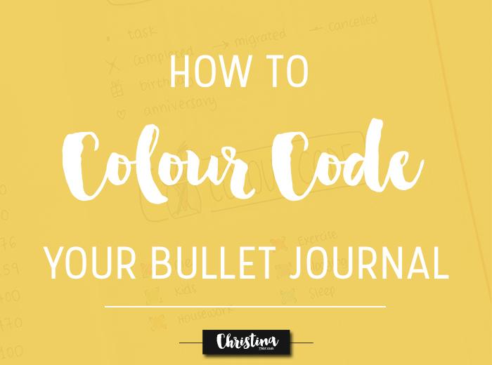 Colour coding is one of the best ways to further organise your bullet journal and have a clear view of the different categories/topics you create in it. See how and where to use your colour coding system in your bullet journal. - www.christina77star.co.uk