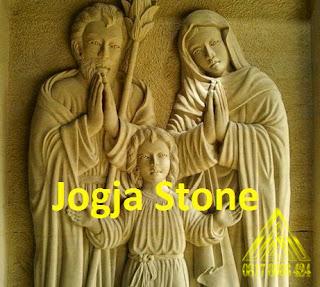 batu alam paras jogja atau batu paras putih relief yesus