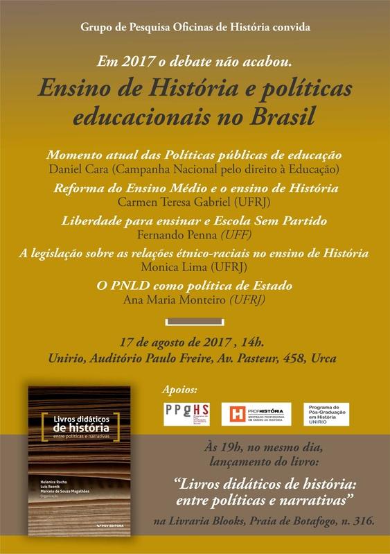 Ensino de História e políticas educacionais no Brasil.
