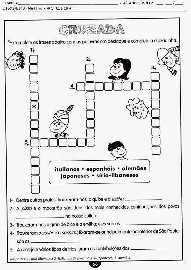 100 ATIVIDADES DE HISTÓRIA 4° ANO EXERCÍCIOS (IMAGENS